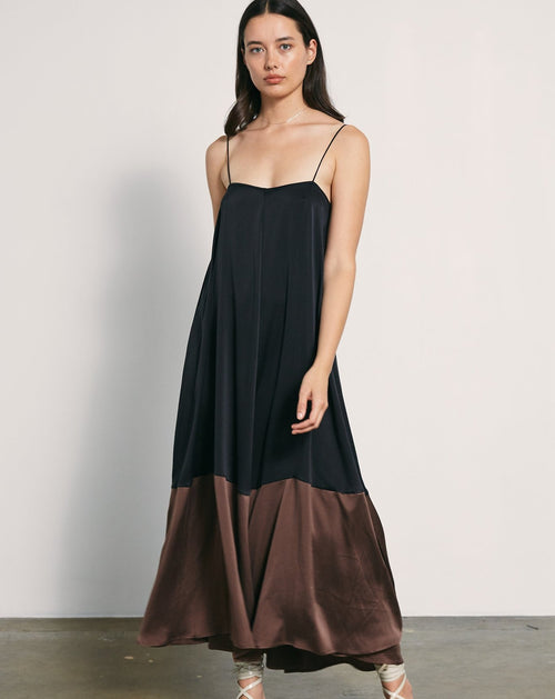 Sylvie Dress Black Chocolate