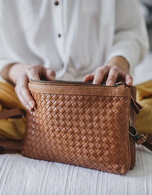 Gemini Woven Bag Antique Chestnut