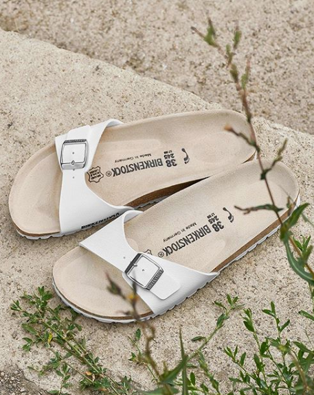 Birkenstock Madrid Birko White Narrow