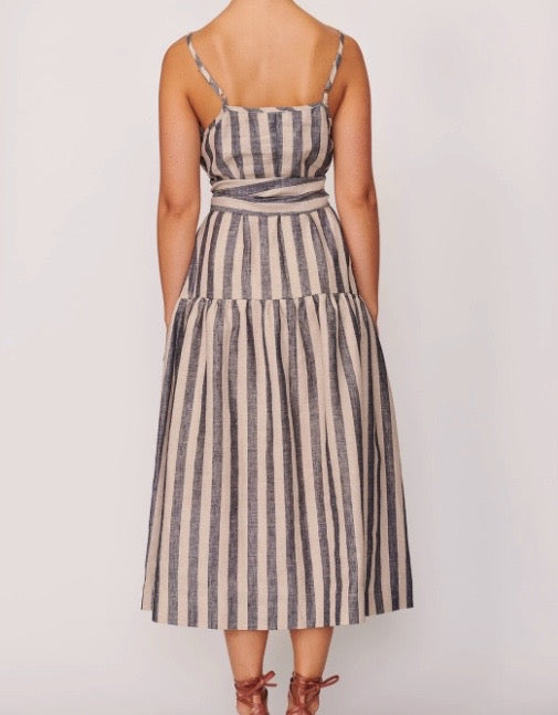 Band Melted Midi Dress Band Stripe