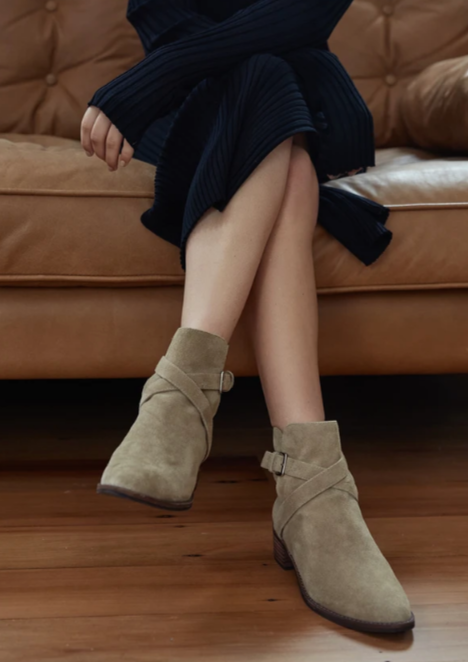 La Tribe Faye Wrap Boot Olive