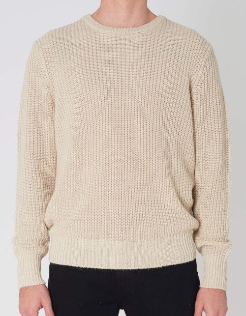 Hemp Blend Crew Knit Natural
