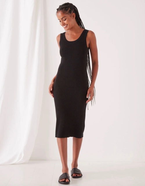 Ella Knit Tank Dress Black