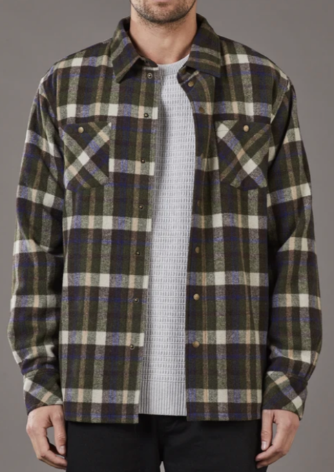 Landing Check Jacket Khaki