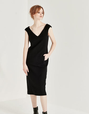Drape Dress Black