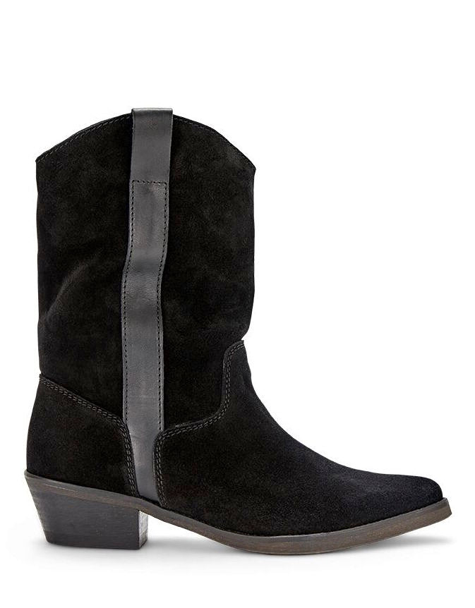 Tracy Boot Black Split Leather