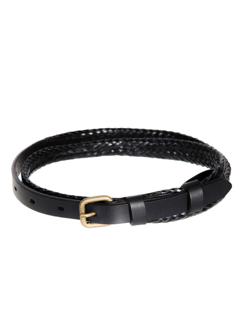 Black Plaited Belt