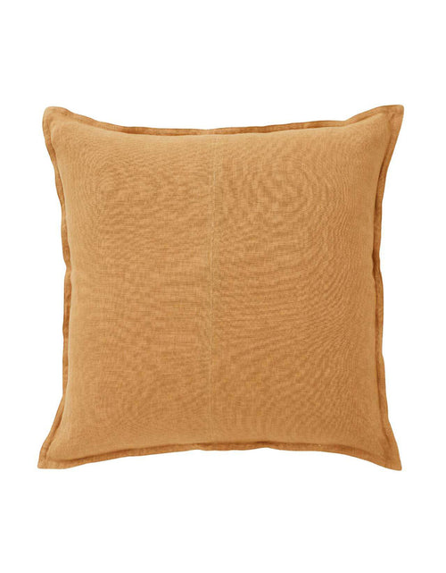 Linen Cosmo Cushion Amber