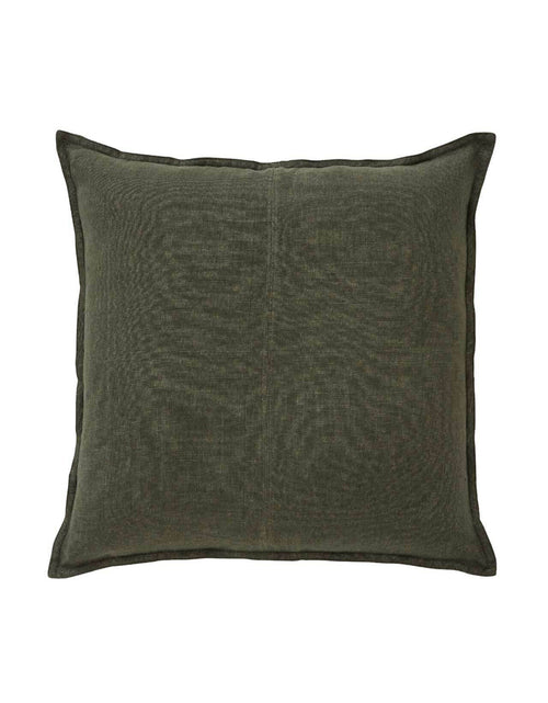 Linen Cosmo Cushion Khaki