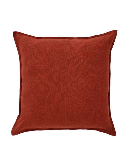Linen Cosmo Cushion Sienna