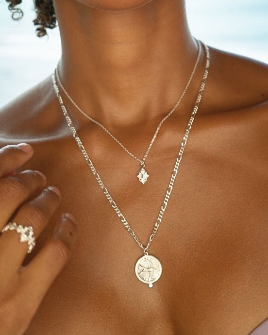 Loyalty Necklace Silver White Zircon
