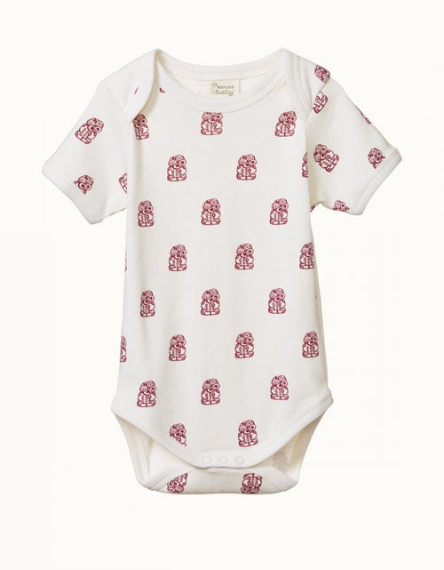 Short Sleeve Bodysuit Tiki Print