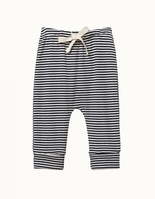 Drawstring Pants Navy Stripe