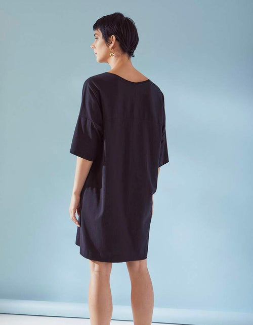 Oversized T-shirt Dress Black