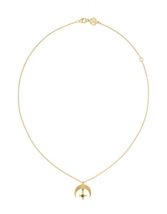 Sasha Necklace Gold White Zircon