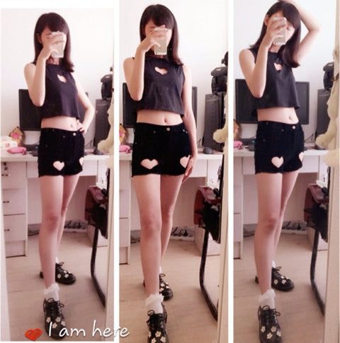 Love cut out cool shorts