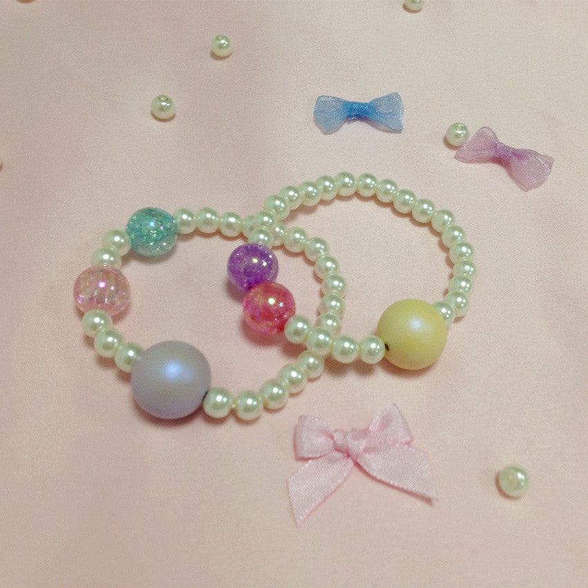 H2009 Candy Ball Pearl Bracelet 2 pieces