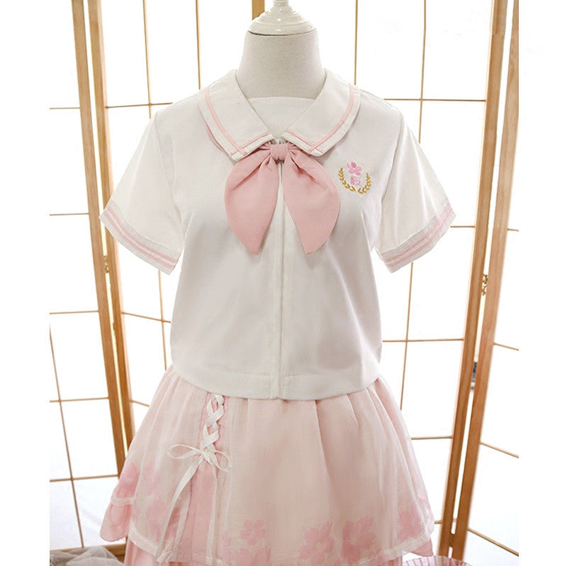 H2014 Sakura Uniform JK Short Sleeves Top