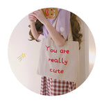 H2016 Kawaii Canvas Shopping Bag