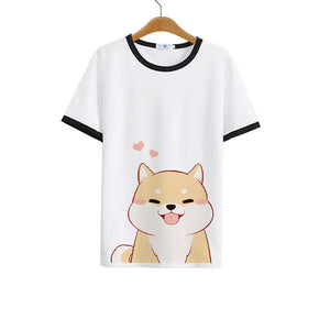 H Doge Milk Silk White T-shirt
