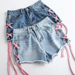 H2005 Bandage Denim Shorts