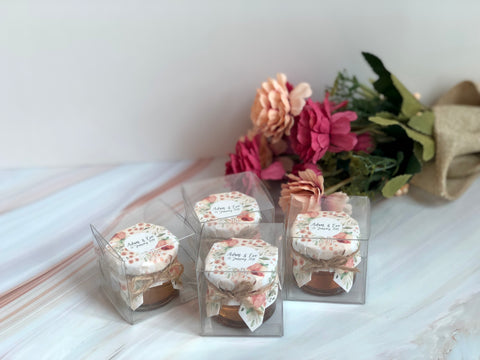 custom design wedding honey favours