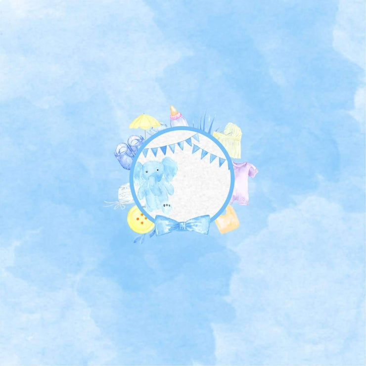 Dreamy Baby Shower Sky Blue Customisable Baby Shower Gift