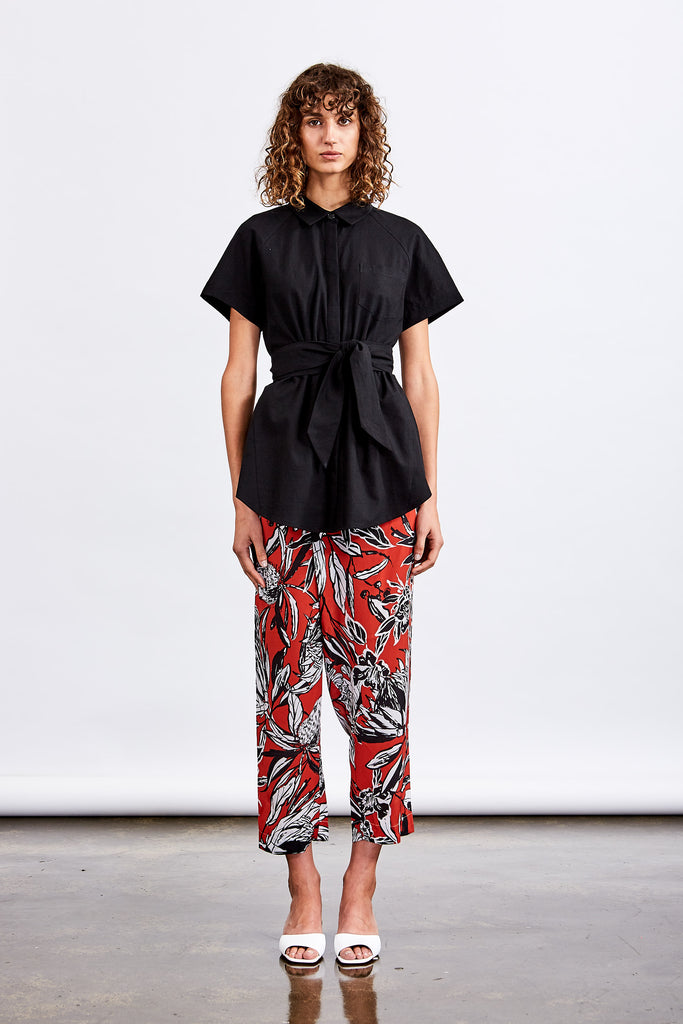 Native Floral Wrap Pant