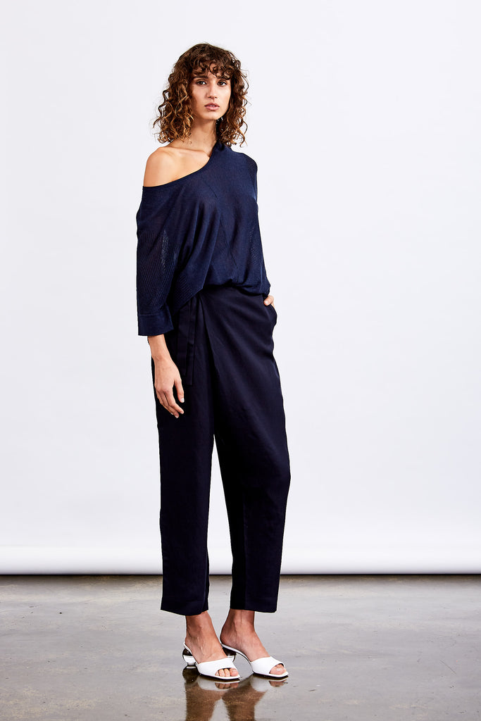 Society Wrap Pant (Navy)