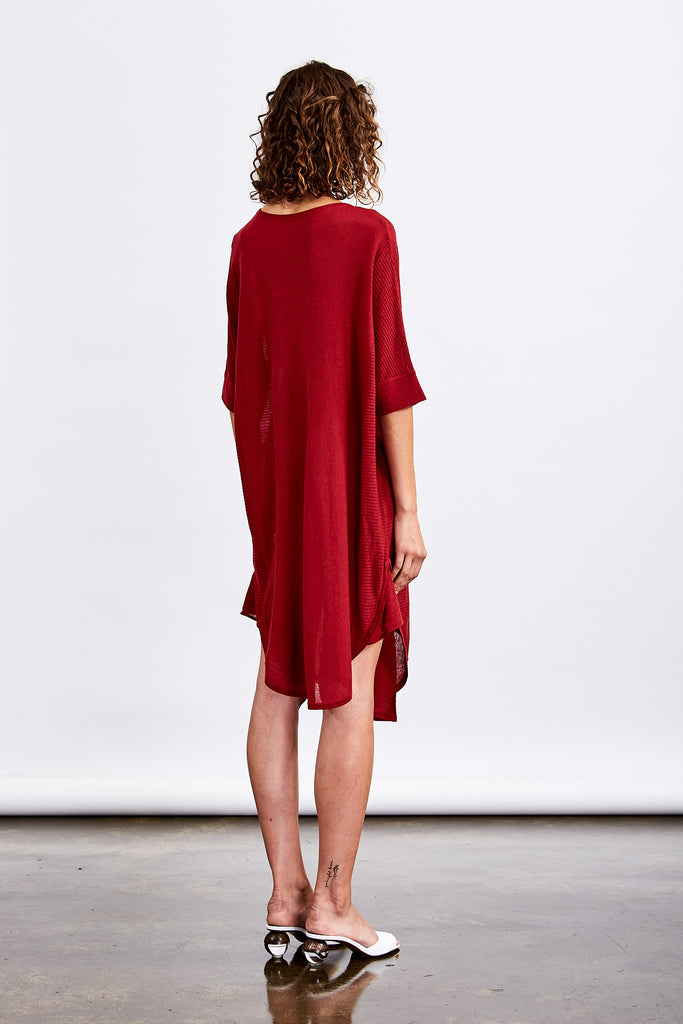Monaco Curved Hem Knit Dress
