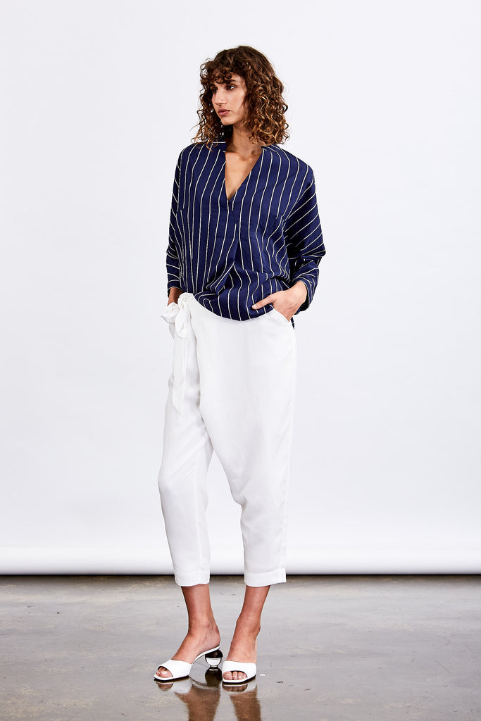 Society Wrap Pant (White)