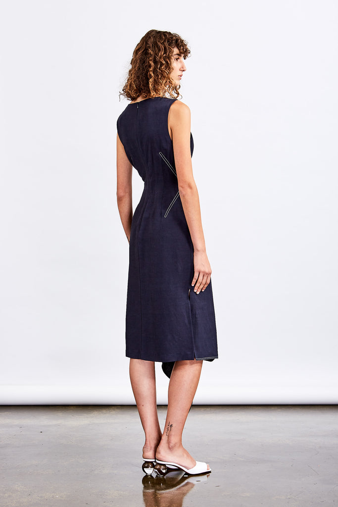 Sway Wrap Dress (Navy)