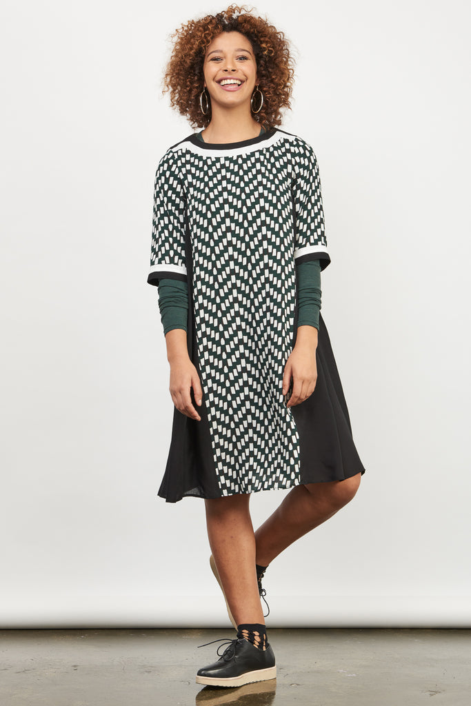 Pandora Print Pleat Dress