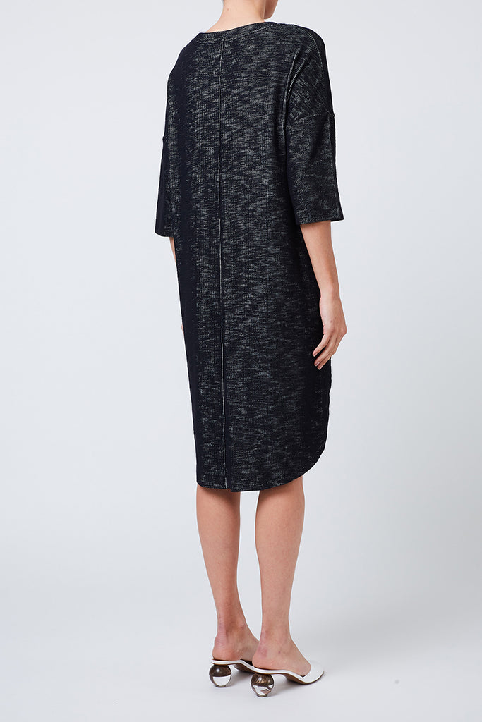 Channel Boxy Dress (Black)