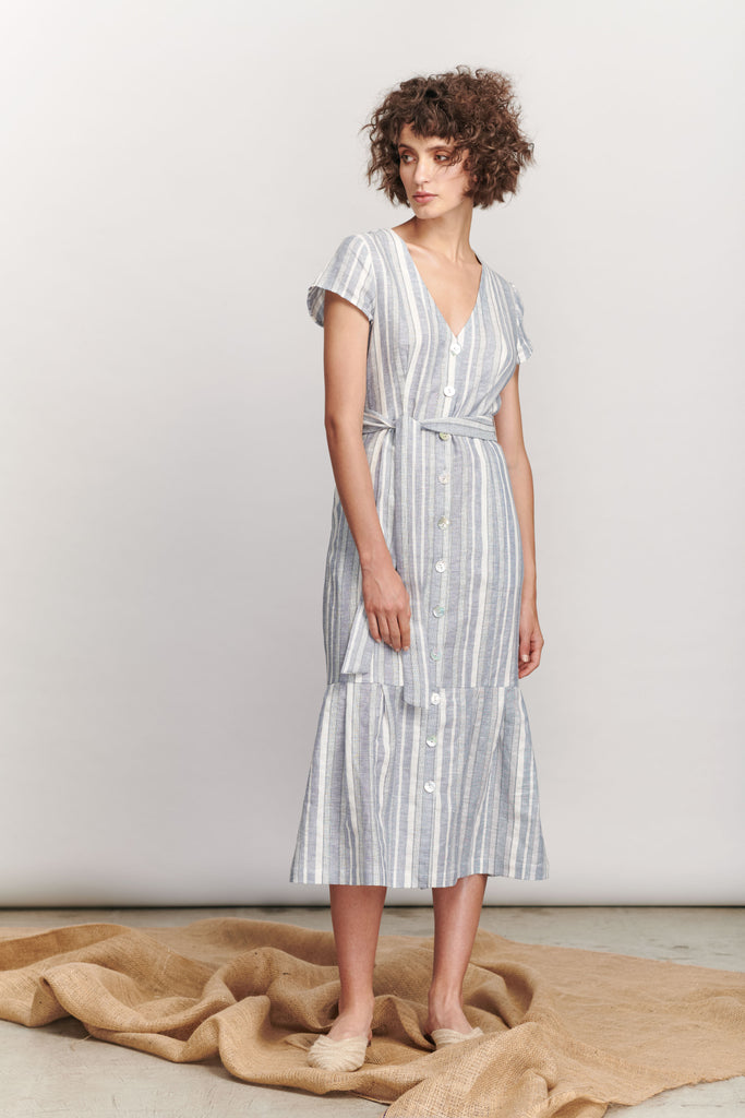 Bondy Dress - Blue Stripe