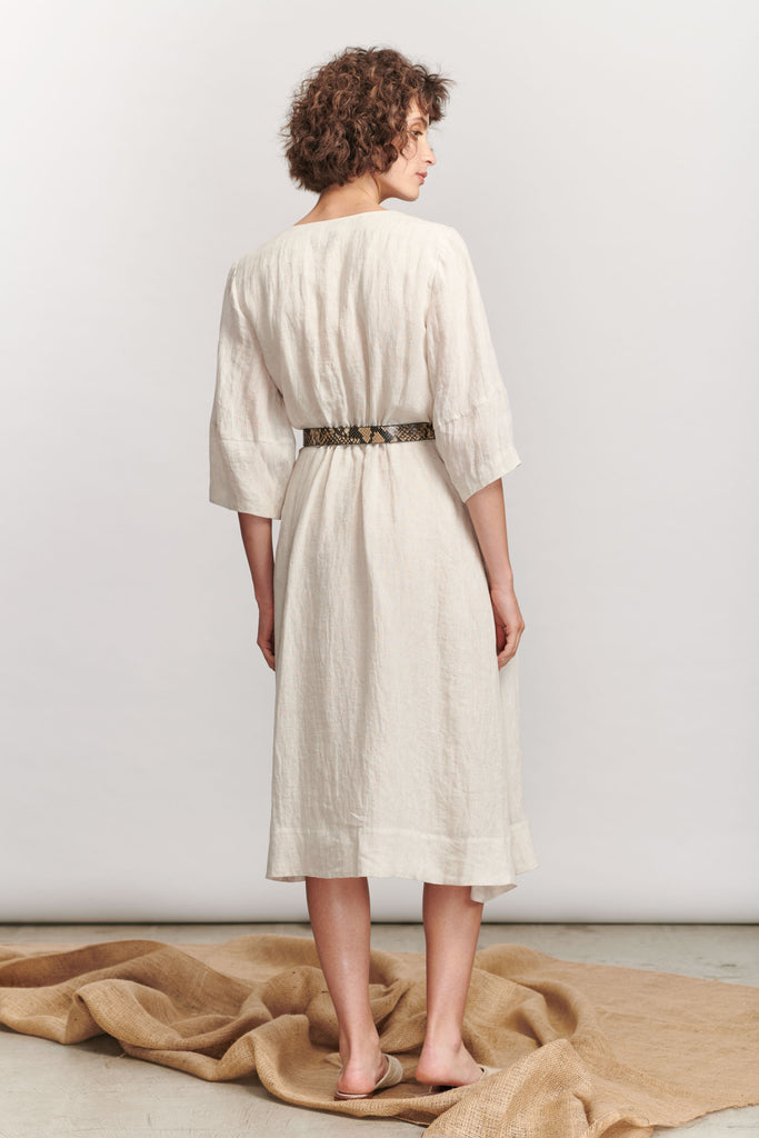 Havre Midi Dress - Natural