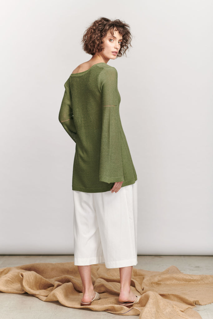 Lorne Knit Top - Bright Green