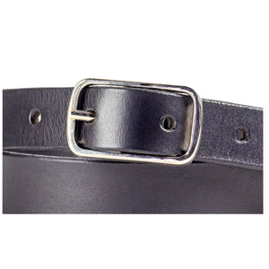 20mm Black Leather Belt