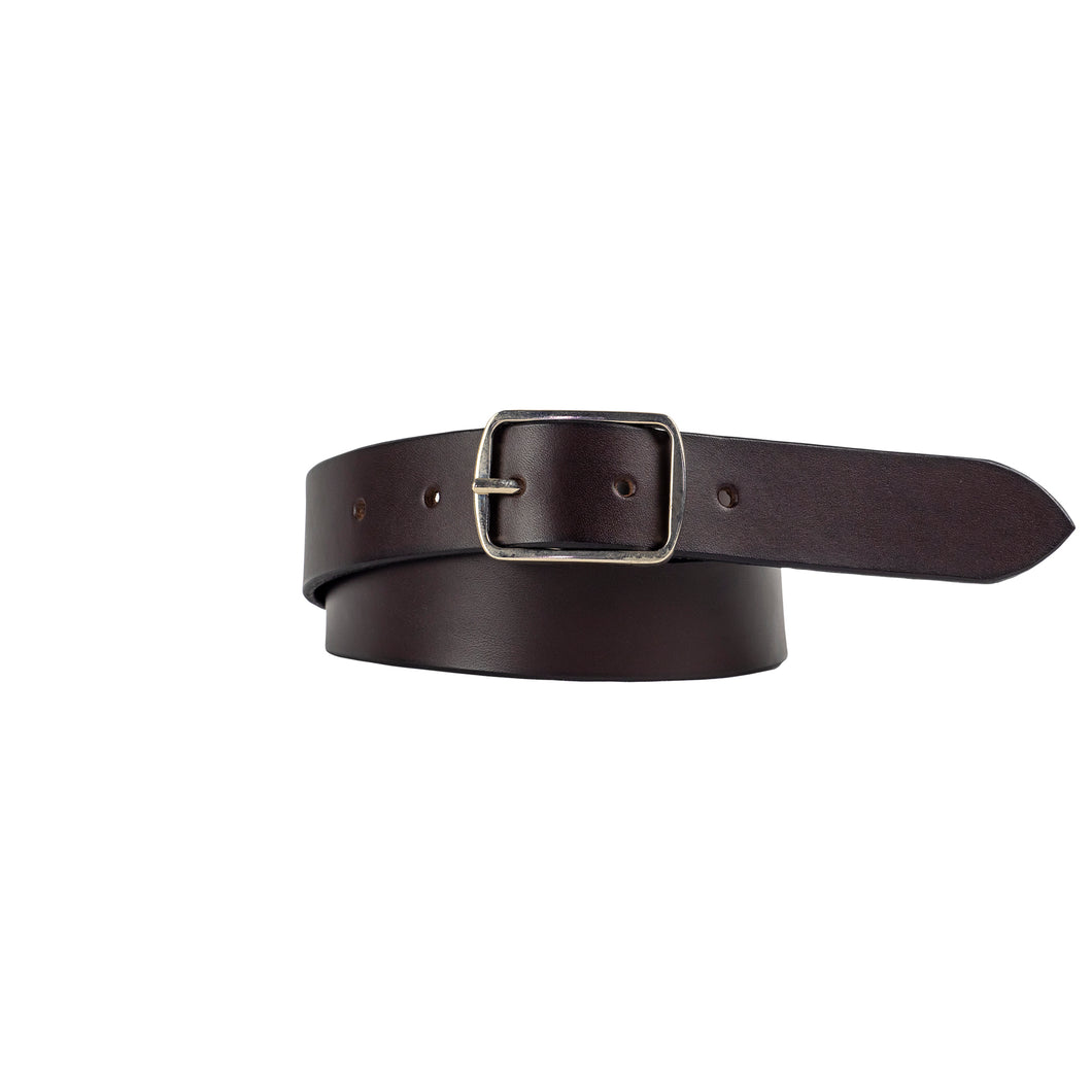 30mm Brown Leather Belt