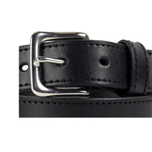 Load image into Gallery viewer, 32mm Stitched Black Leather Belt