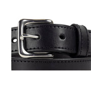 32mm Stitched Black Leather Belt - Harrisson Australia