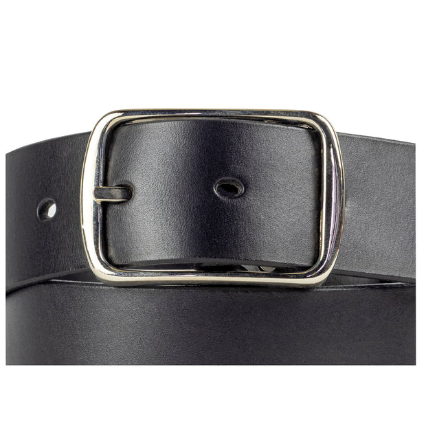 40mm Black Leather Belt - Harrisson Australia