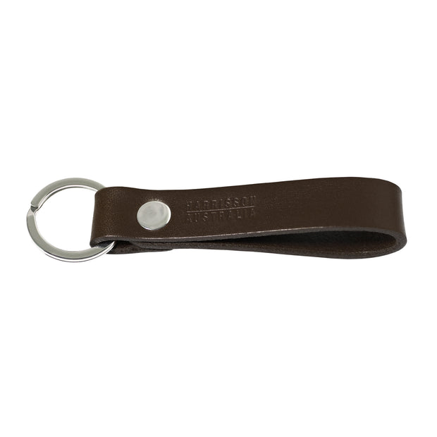 Leather Keyring Brown