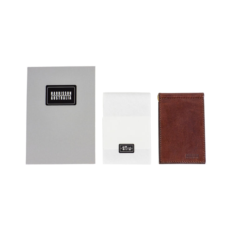 Limited Offer, Brown Billfold Wallet With Matching Keyring - Harrisson Australia