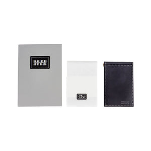 Limited Offer, Black Billfold Wallet With Grey Stitching and Matching Keyring