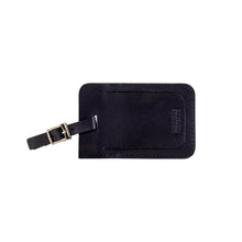 Load image into Gallery viewer, Leather Luggage Tag Black