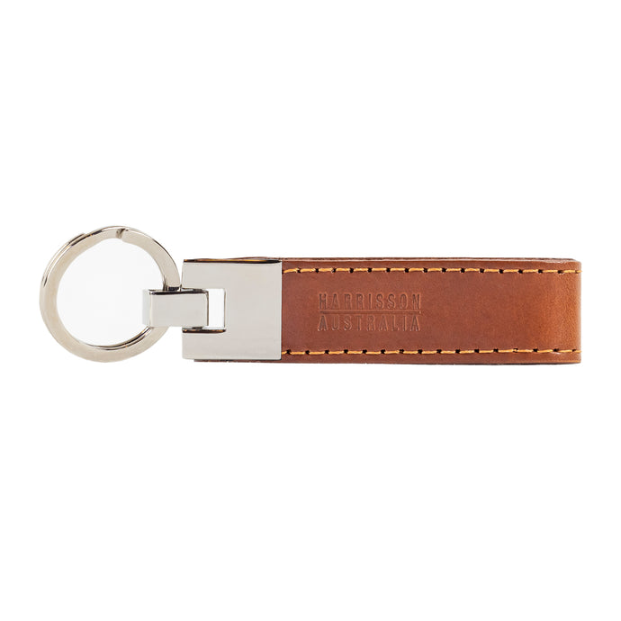 Leather Keyring Tan