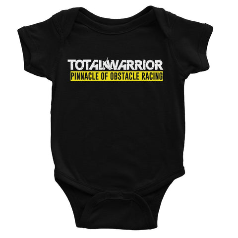 TOTAL WARRIOR PINNACLE OF OBSTACLE RACING BABY BODYSUIT