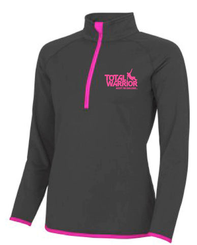 Total Warrior Ladies 2017 Half Zip Performance Top