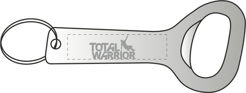Total Warrior Aluminium Bottle Opener Key Ring